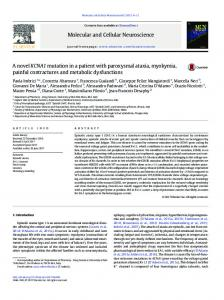 A novel KCNA1 mutation in a patient with paroxysmal ...