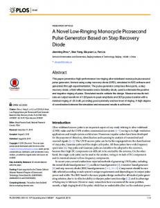 A Novel Low-Ringing Monocycle Picosecond Pulse Generator Based