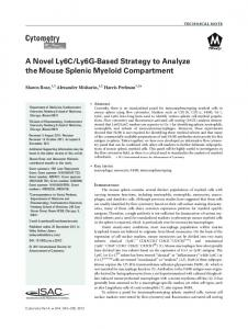 A novel Ly6C/Ly6Gbased strategy to analyze ... - Wiley Online Library