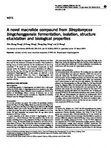 A novel macrolide compound from Streptomyces ... - Nature