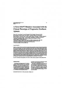 A Novel MAPT Mutation Associated with the Clinical ... - IOS Press