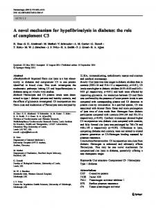 A novel mechanism for hypofibrinolysis in diabetes: the ... - Springer Link