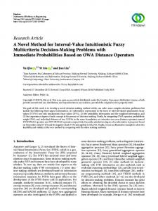 A Novel Method for Interval-Value Intuitionistic Fuzzy Multicriteria