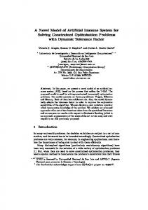 A Novel Model of Artificial Immune System for Solving Constrained ...