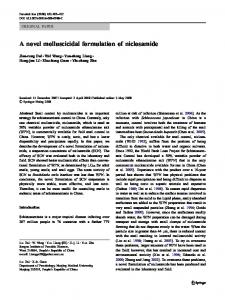 A novel molluscicidal formulation of niclosamide