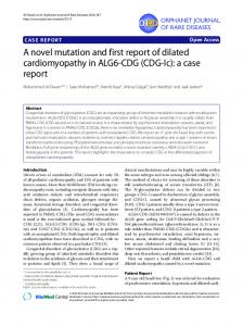 A novel mutation and first report of dilated ... - Semantic Scholar