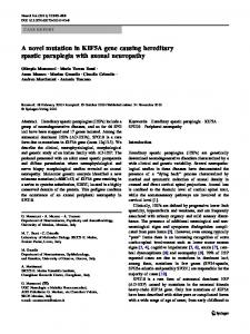 A novel mutation in KIF5A gene causing hereditary ... - Springer Link