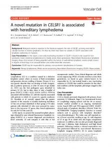 A novel mutation inCELSR1is associated with hereditary lymphedema ...