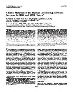 A Novel Mutation of the Human Luteinizing Hormone Receptor in ...