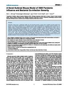 A Novel Outbred Mouse Model of 2009 Pandemic ... - Semantic Scholar
