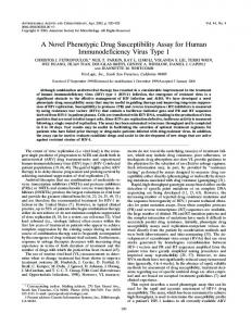 A Novel Phenotypic Drug Susceptibility Assay for Human ...