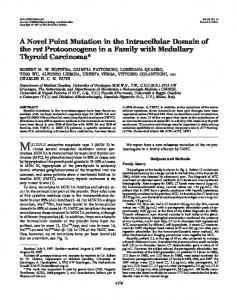 A Novel Point Mutation in the Intracellular Domain of the ret ...