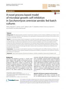 A novel process-based model of microbial ... - Microbial Cell Factories