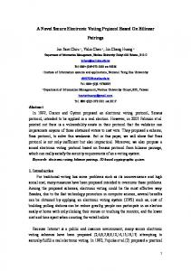 A Novel Secure Electronic Voting Protocol Based On Bilinear Pairings