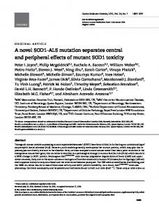 A novel SOD1-ALS mutation separates central and peripheral effects ...