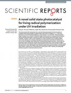 A novel solid state photocatalyst for living radical ... - Semantic Scholar