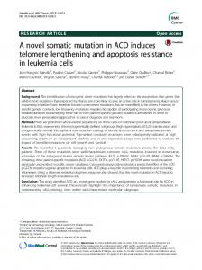 A novel somatic mutation in ACD induces telomere lengthening and ...