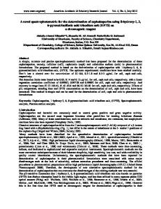 A novel spectrophotometric for the determination of