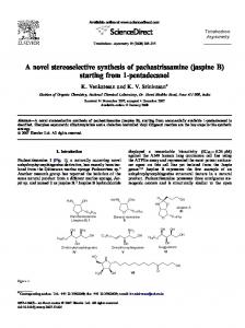 A novel stereoselective synthesis of pachastrissamine