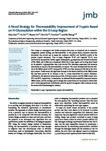 A Novel Strategy for Thermostability Improvement of Trypsin Based on ...