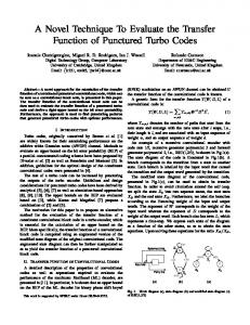 A Novel Technique To Evaluate the Transfer Function of ... - CiteSeerX