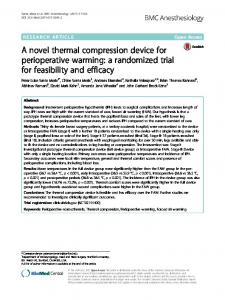 A novel thermal compression device for perioperative warming - BMC ...