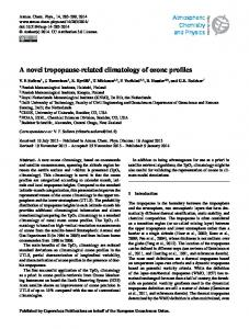 A novel tropopause-related climatology of ozone ... - Atmos. Chem. Phys