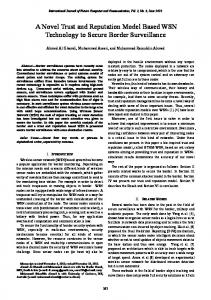 A Novel Trust and Reputation Model Based WSN Technology to ...