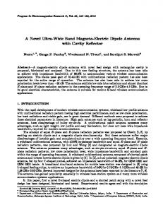 A Novel Ultra-Wide Band Magneto-Electric Dipole Antenna with Cavity ...