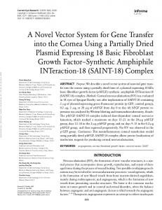 A Novel Vector System for Gene Transfer into the ...