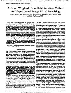 A Novel Weighted Cross Total Variation Method for ... - IEEE Xplore