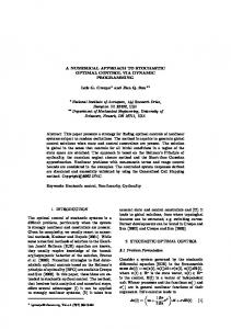 A NUMERICAL APPROACH TO STOCHASTIC OPTIMAL CONTROL