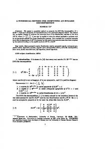 A NUMERICAL METHOD FOR COMPUTING AN