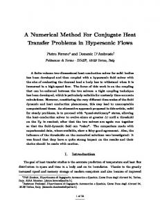 A Numerical Method For Conjugate Heat Transfer Problems in