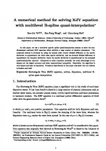 A numerical method for solving KdV equation with ...