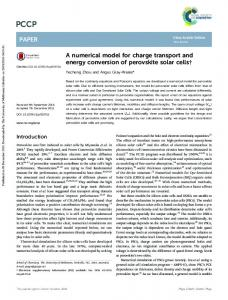 A numerical model for charge transport and energy