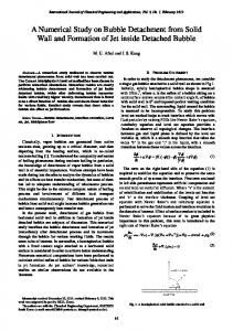 A Numerical Study on Bubble Detachment from Solid Wall and ...