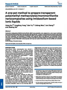 A onepot method to prepare transparent poly(methyl methacrylate ...