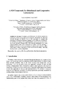 A P2P Framework For Distributed And Cooperative ... - Springer Link