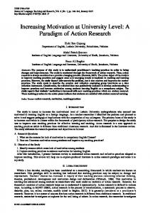 A Paradigm of Action Research