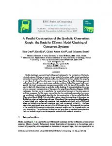 A Parallel Construction of the Symbolic Observation Graph - EasyChair