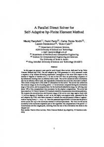 A Parallel Direct Solver for Self-Adaptive hp-Finite ... - CiteSeerX