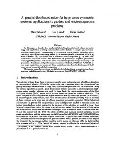 A parallel distributed solver for large dense ... - Semantic Scholar