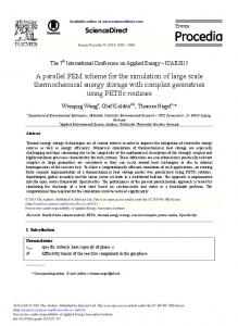 A Parallel FEM Scheme for the Simulation of Large ...