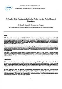 A Parallel Solid Mechanics Solver for Multi‐physics Finite ... - prace