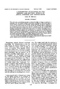 A parametric evaluation of the hedonic and motoric ... - Gene Heyman
