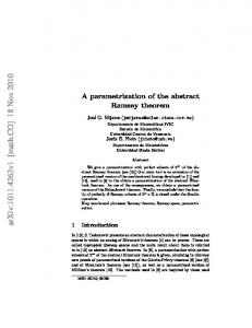 A parametrization of the abstract Ramsey theorem