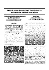 A Particle Swarm Optimization for Reactive Power and ... - CiteSeerX