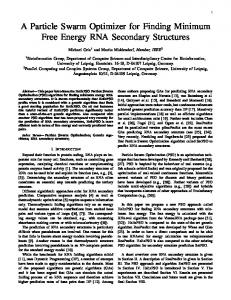 A Particle Swarm Optimizer for Finding Minimum Free Energy RNA