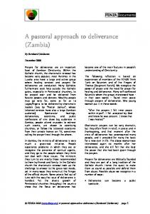 A pastoral A pastoral approach to deliverance approach ... - Fenza.org
